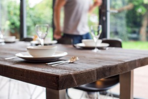 Reclaimed Wood dining tables by Mac+Wood