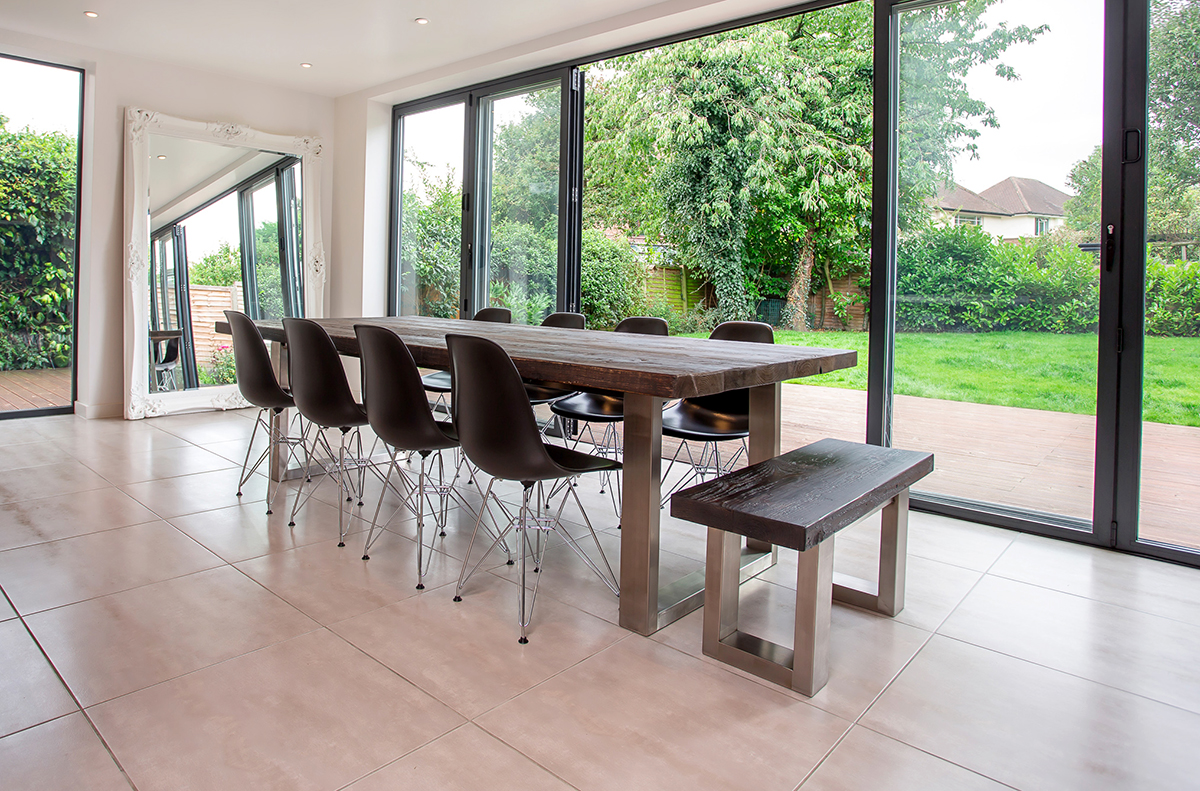 Eames Eiffel chairs - perfect to compliment your reclaimed wood table