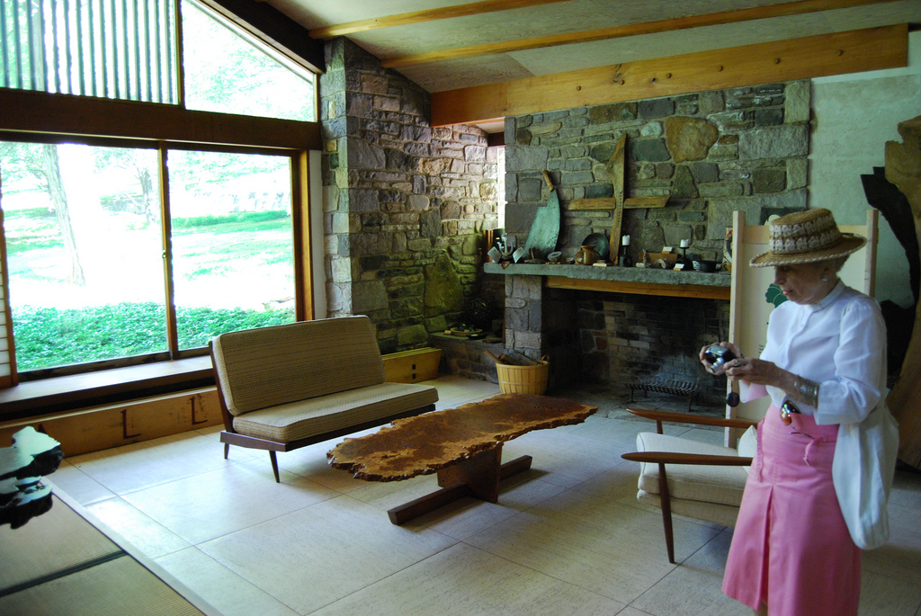 A room in Nakashima's personal studio