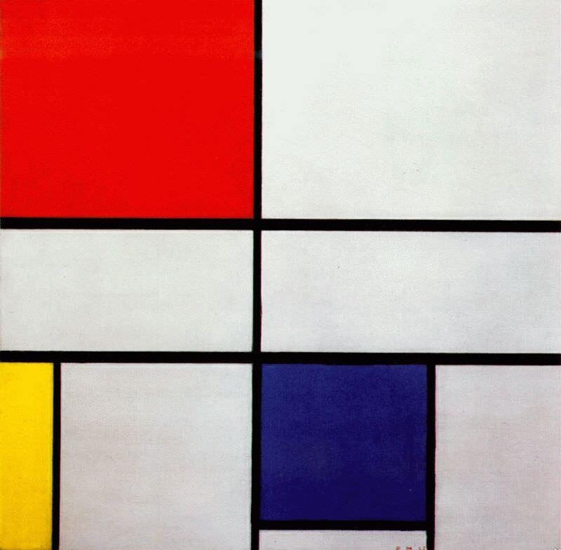 Composition-C by Piet Mondrian