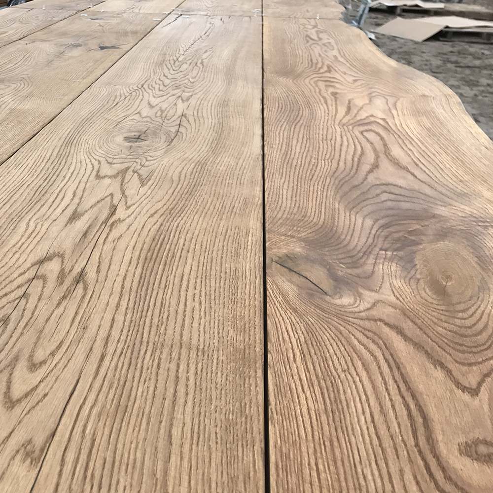 Oak table top with live edge