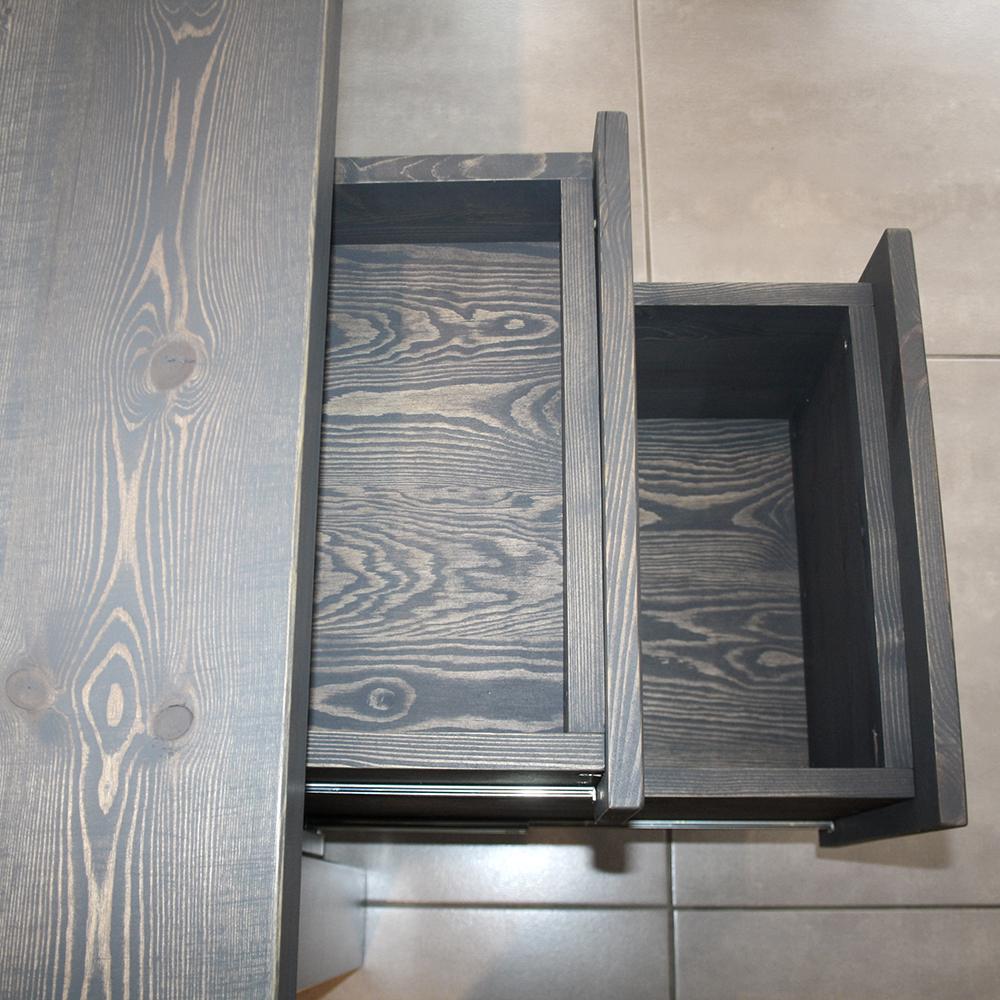 Mac&Wood Grey Desk draws close up